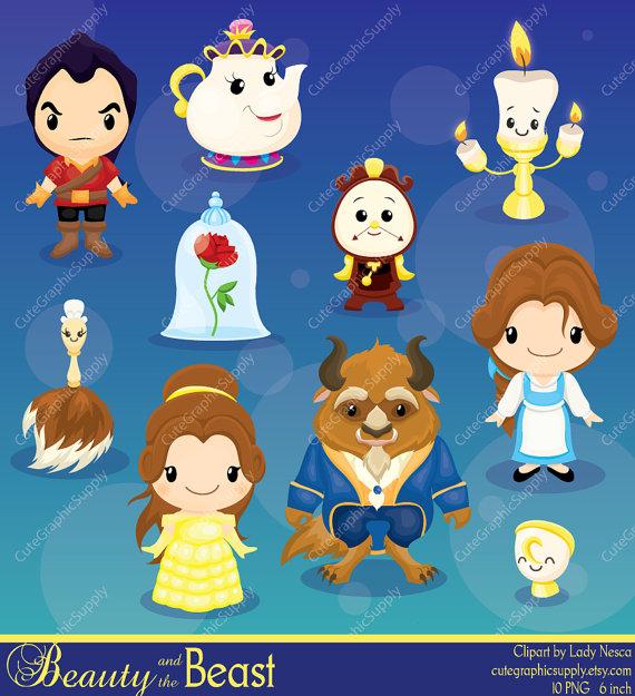 Beauty and the Beast clipart, Beauty, Princess clipart, Princess digital clipart, disney