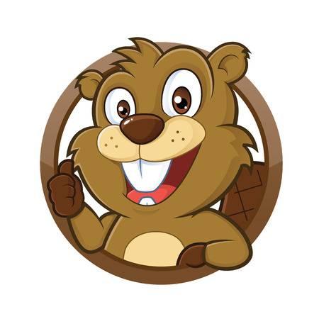 Beaver giving thumb up