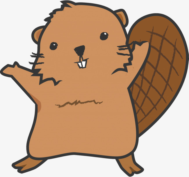 beaver standing up, Beaver Clipart, Beaver PNG Image and Clipart