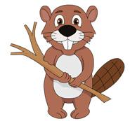 Beaver Holding Twig Size: 92 Kb