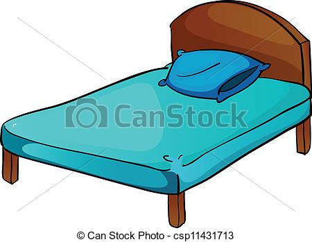 bed and pillow - csp11431713 - Bed Clipart