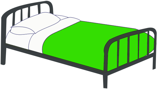 Bed Single Clipart #1