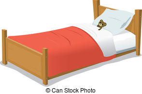 . Hdclipartall.com Cartoon Bed With Teddy Bear - Illustration Of A Cartoon.
