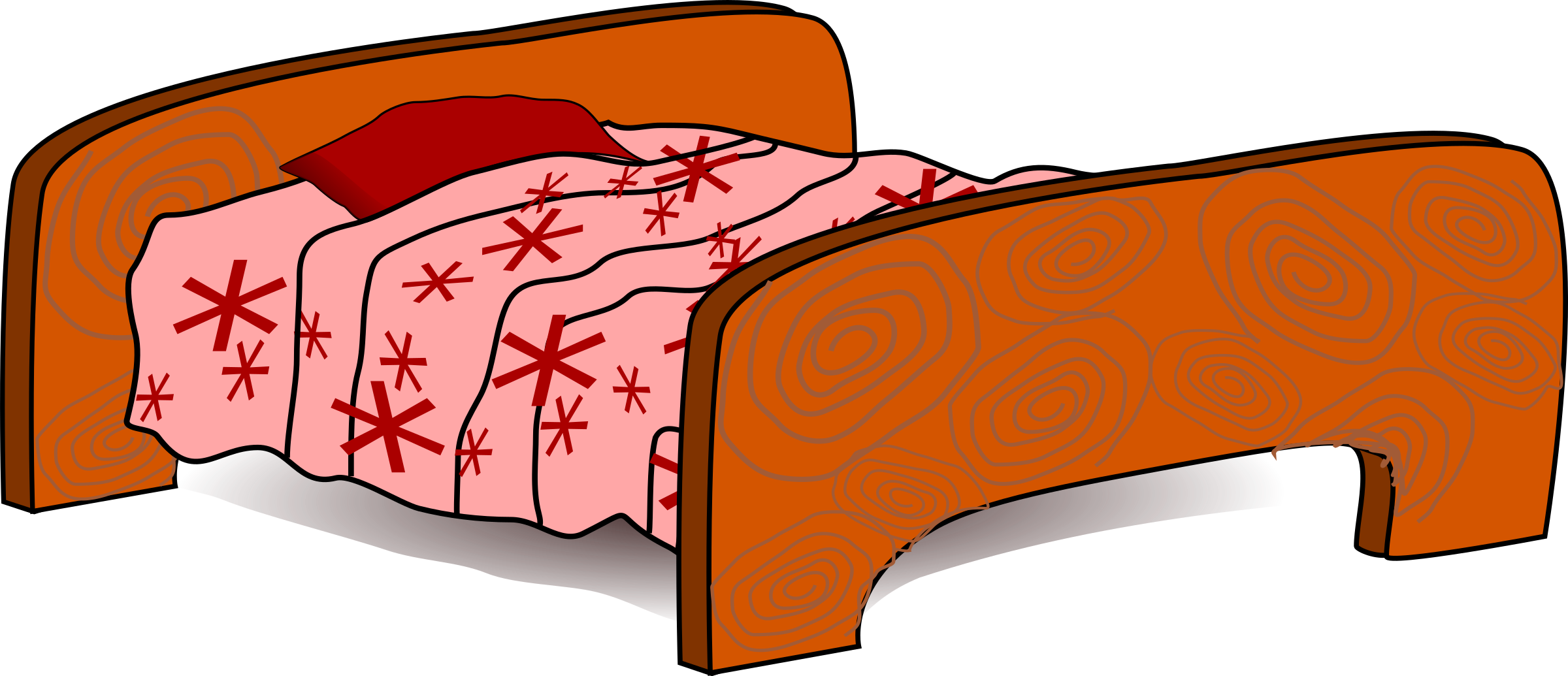 clipart bed bed nice