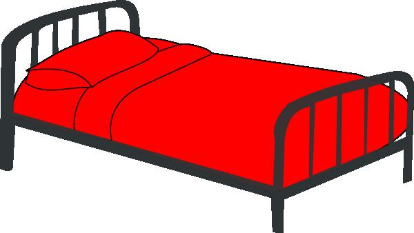 Bed Red Clip Art At Clker Com Vector Clip Art Online Royalty Free