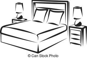 ... bedroom - Simple vector illustration of a bedroom interior