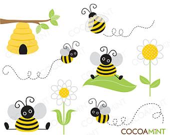 Bee Flying Clip Art