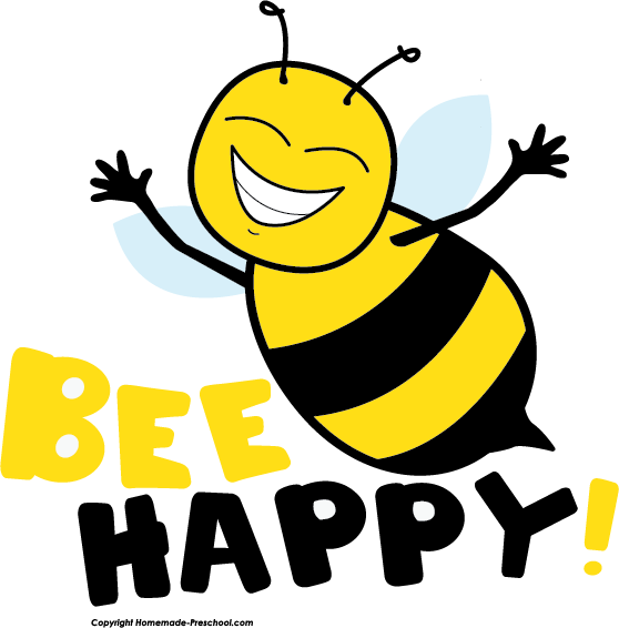 Bee happy clipart