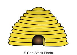 ... Bee Hive - Illustration of a bee hive.