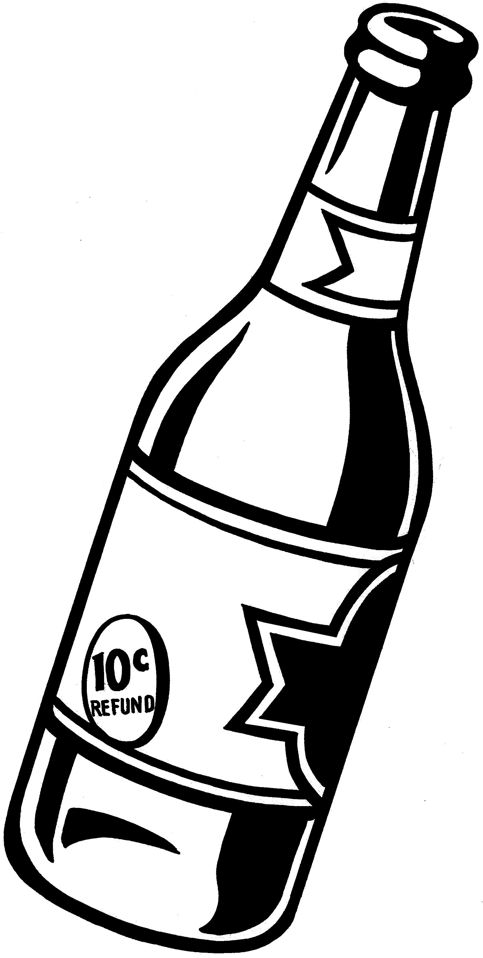 Beer Bottle Outline Clipart Beer Bottle Drawing Clipart