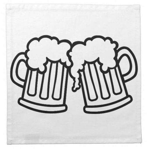 Beer Mugs Cheers Printed Napkins Zazzle