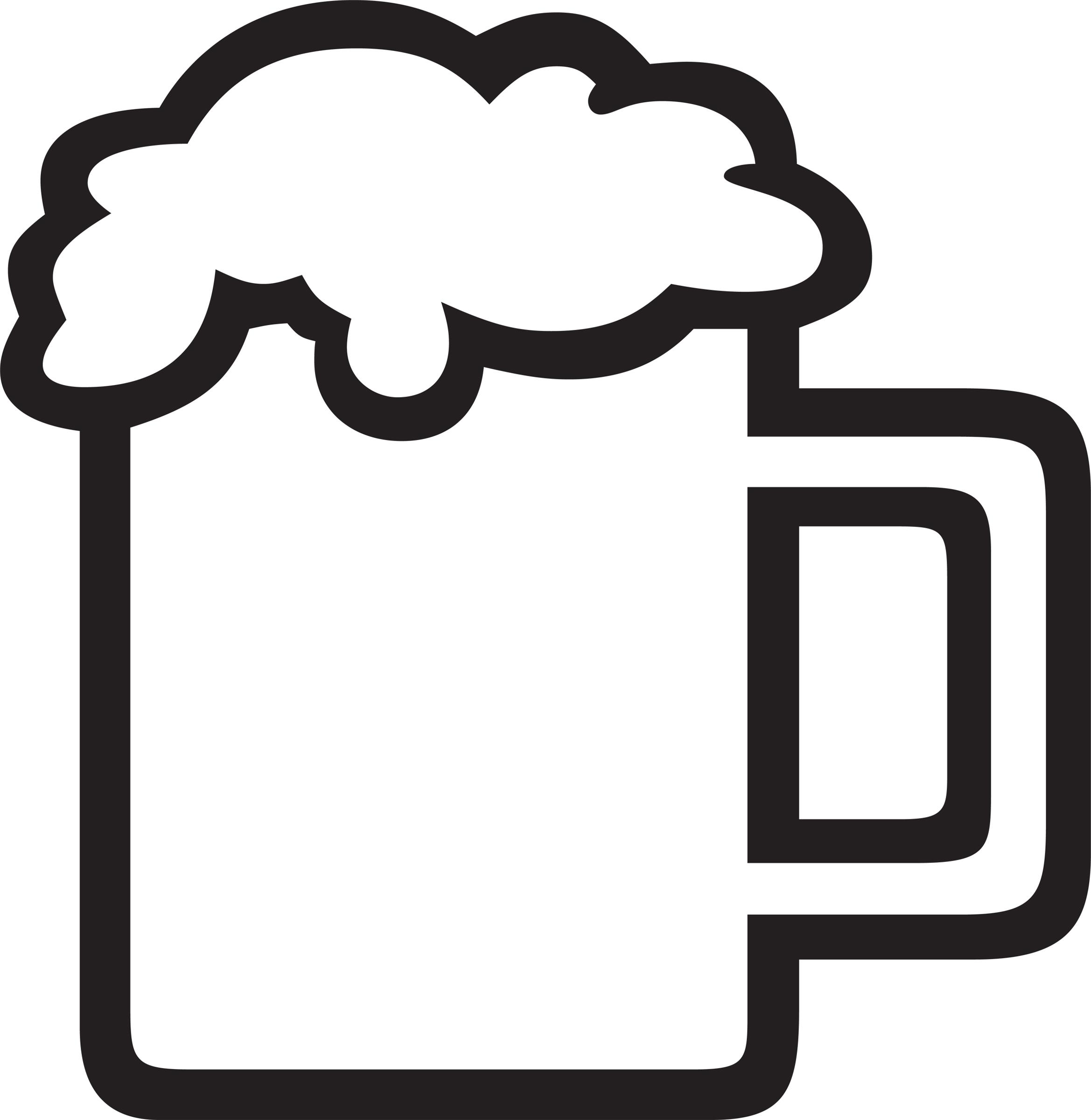 Beer Wine Food Design Foamy Beer Mug Outline Custom Beer
