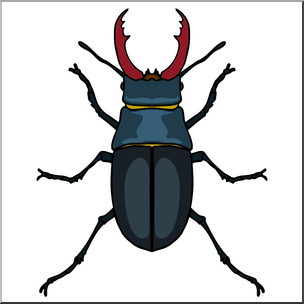 Clip Art: Insects: Stag Beetle Color I abcteach clipartlook.com - preview 1