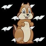 Beka Book :: Clip Art :: Brown Chipmunku2014standing facing forward 160 x 160