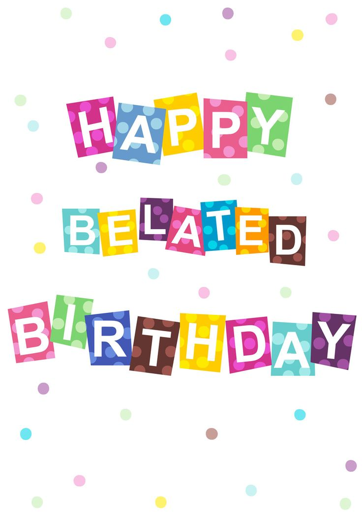 Belated Birthday Wishes Clipart #1