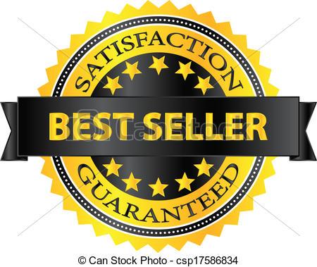 Best Seller Five Stars Golden Badge - csp17586834