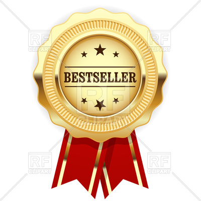 Golden medal bestseller with red ribbon Vector Image u2013 Vector Artwork of  Objects © gomixer ClipartLook.com