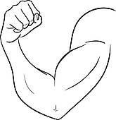Biceps Of Strong Man Clipart Clipart