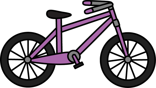 bicycle clipart. Purple Bicycle
