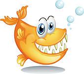 big piranha; cartoon piranha ...