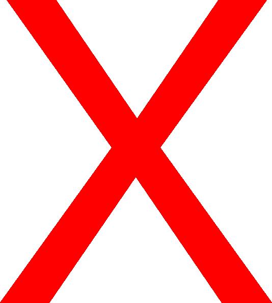 Big Red X Clip Art At Clker Com Vector Clip Art Online Royalty Free