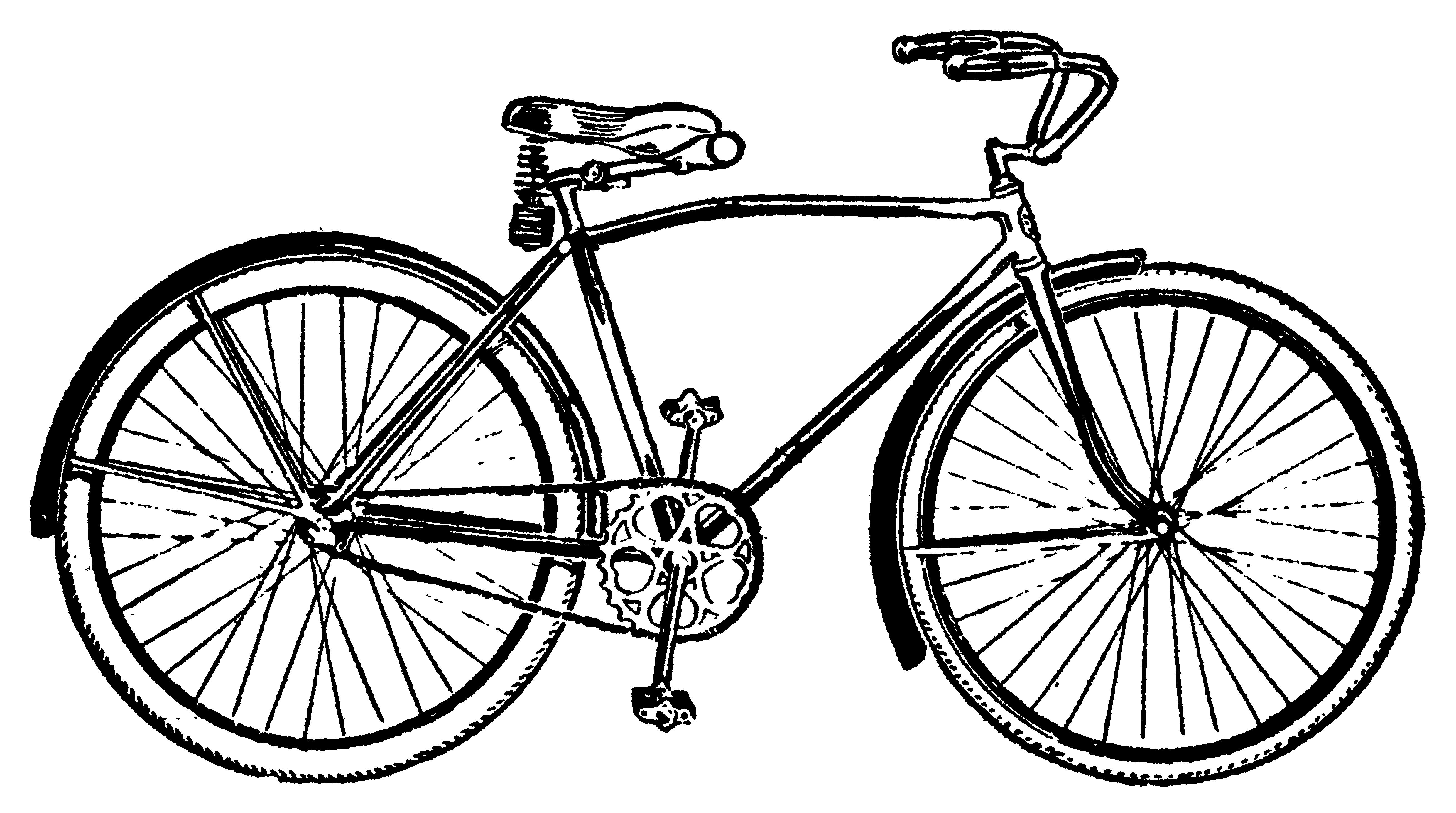 Bike vintage bicycle clip art .