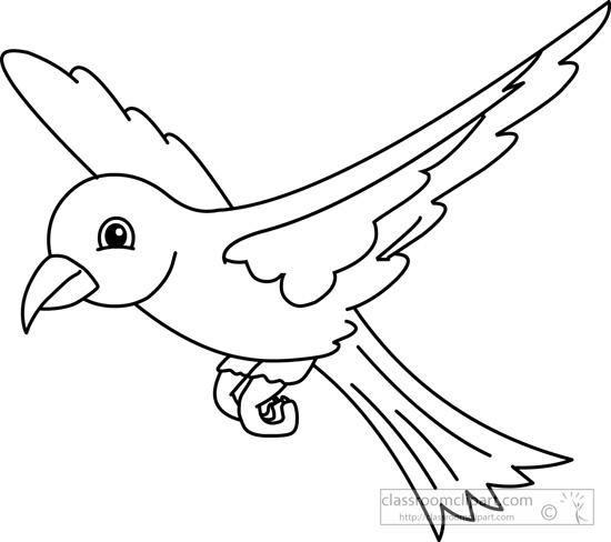 bird-black-white-outline-910.