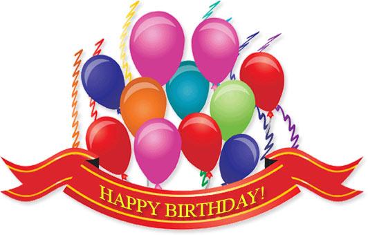 birthday balloons, ribbins an - Birthday Clip Art