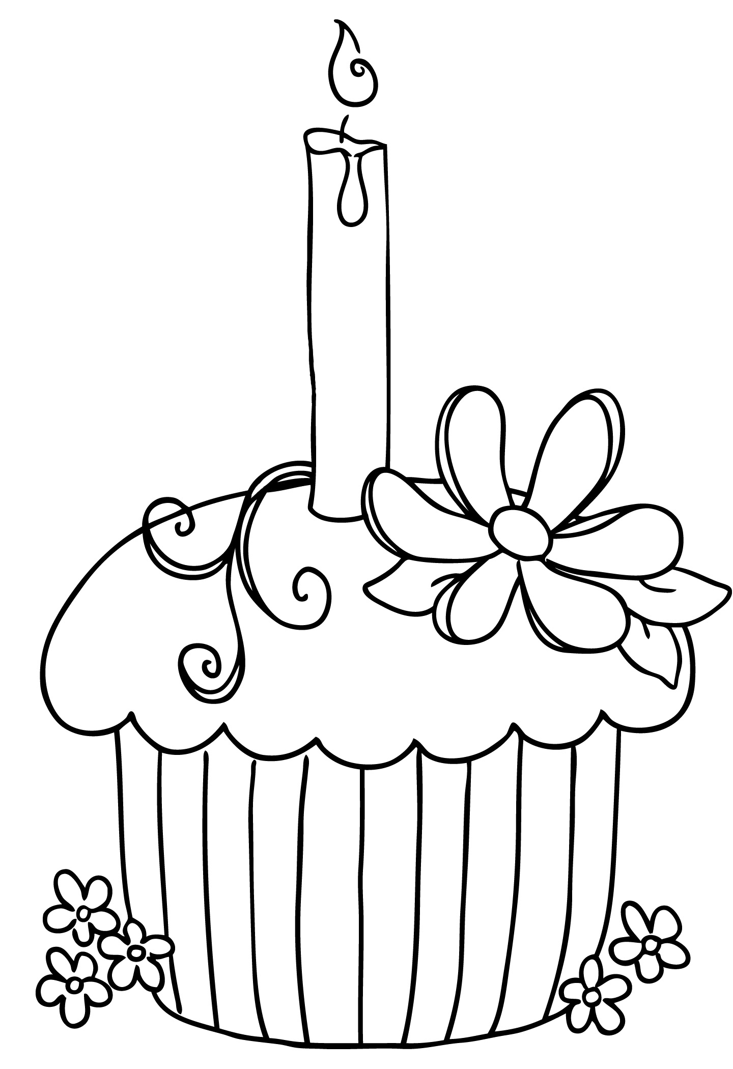 Birthday black and white birt - Birthday Clipart Black And White