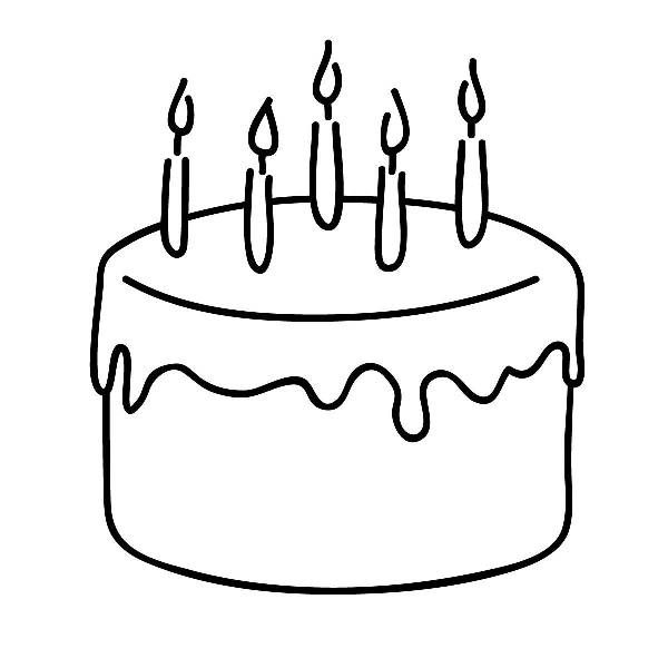 Birthday cake clip art free b - Birthday Clipart Black And White