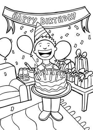 Happy Birthday Clipart Black And White - Image (21908)