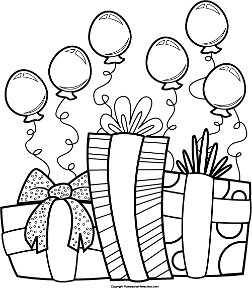 Primary Black And White Birthday Clipart 27 With Additional Clip Art With  Black And White Birthday Clipart