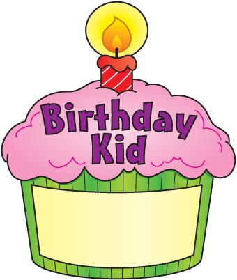 Birthday cupcake clip art .