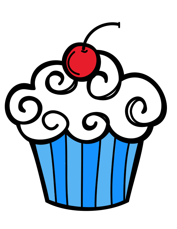 Birthday cupcake clipart images