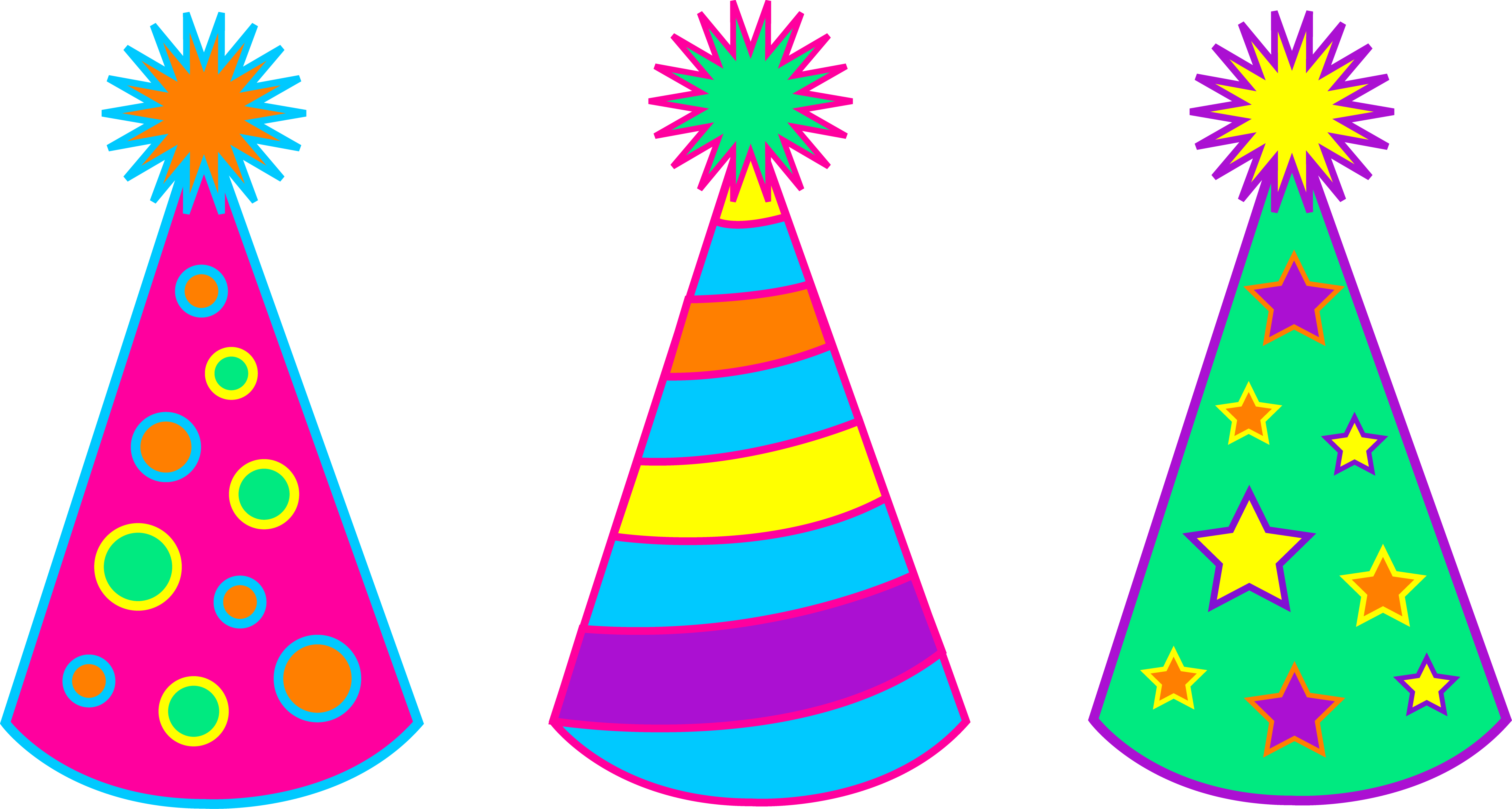 Birthday Hat Clipart - PNG Image #3569
