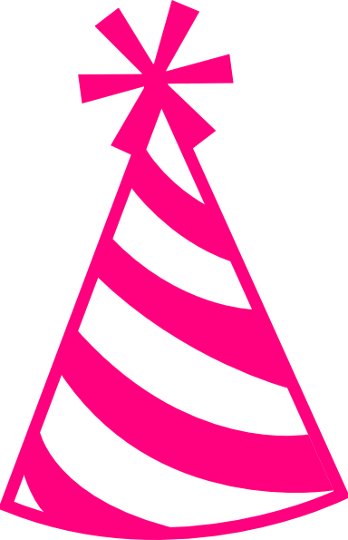 Birthday hat transparent background: Pink Hat clip art - vector