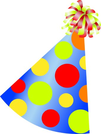 Happy birthday hat clipart