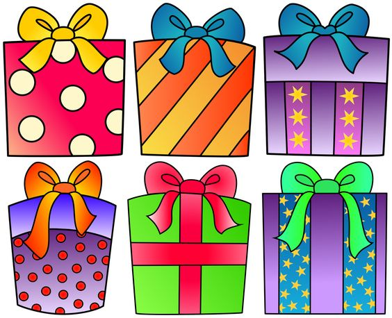 Birthday present clipart for your project or free