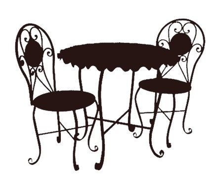 bistro cafe furniture set black clip art graphics image royalty free commercial use | Flair on 3rd | Pinterest | Cafe furniture, Furniture and Clip art