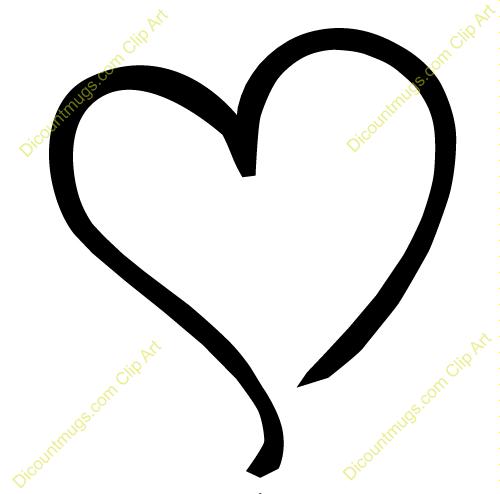 black outline heart clipart