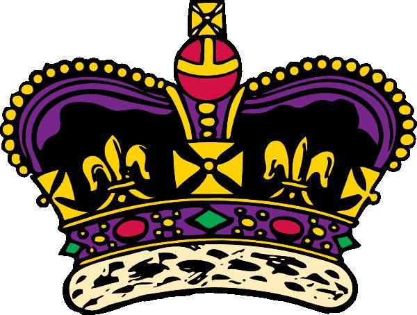 black royal crown clipart