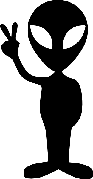 Black Alien Clip Art At Clker Com Vector Clip Art Online Royalty