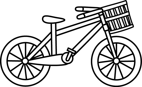 Black u0026amp; White Bicycle with a Basket