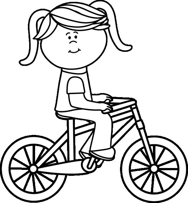 Black u0026amp; White Girl Riding a Bicycle