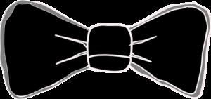 Black And Grey Bow Tie Clip Art