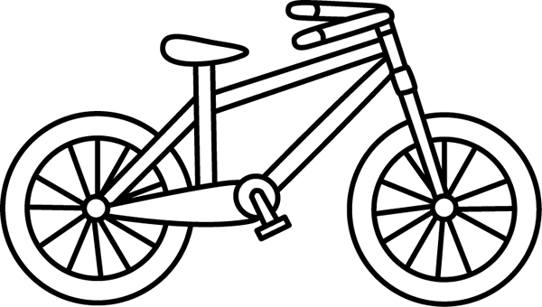 Black and White Bicycle
