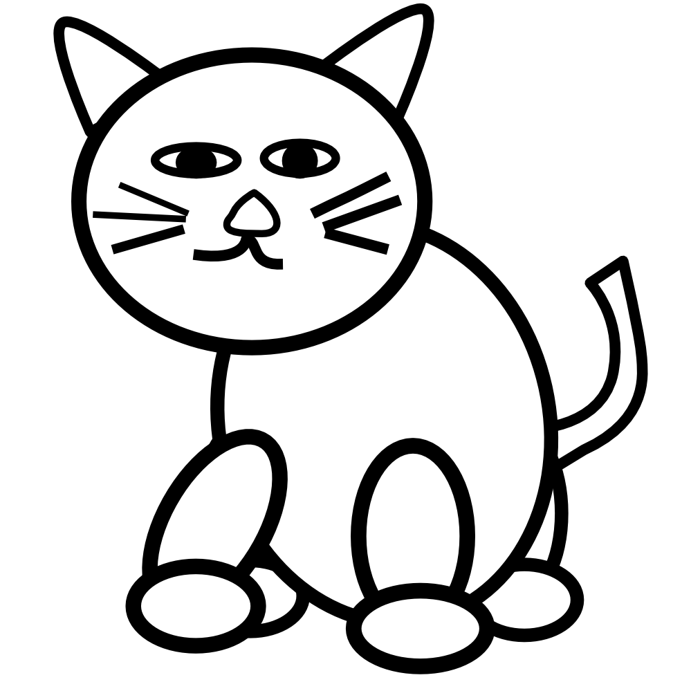 Black And White Cat Clipart
