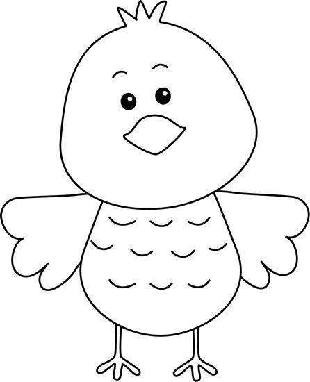 black and white clip art free birds | Cute Black and White Bird Clip Art Image