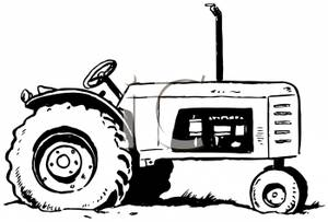 Tractor Clipart Black And White