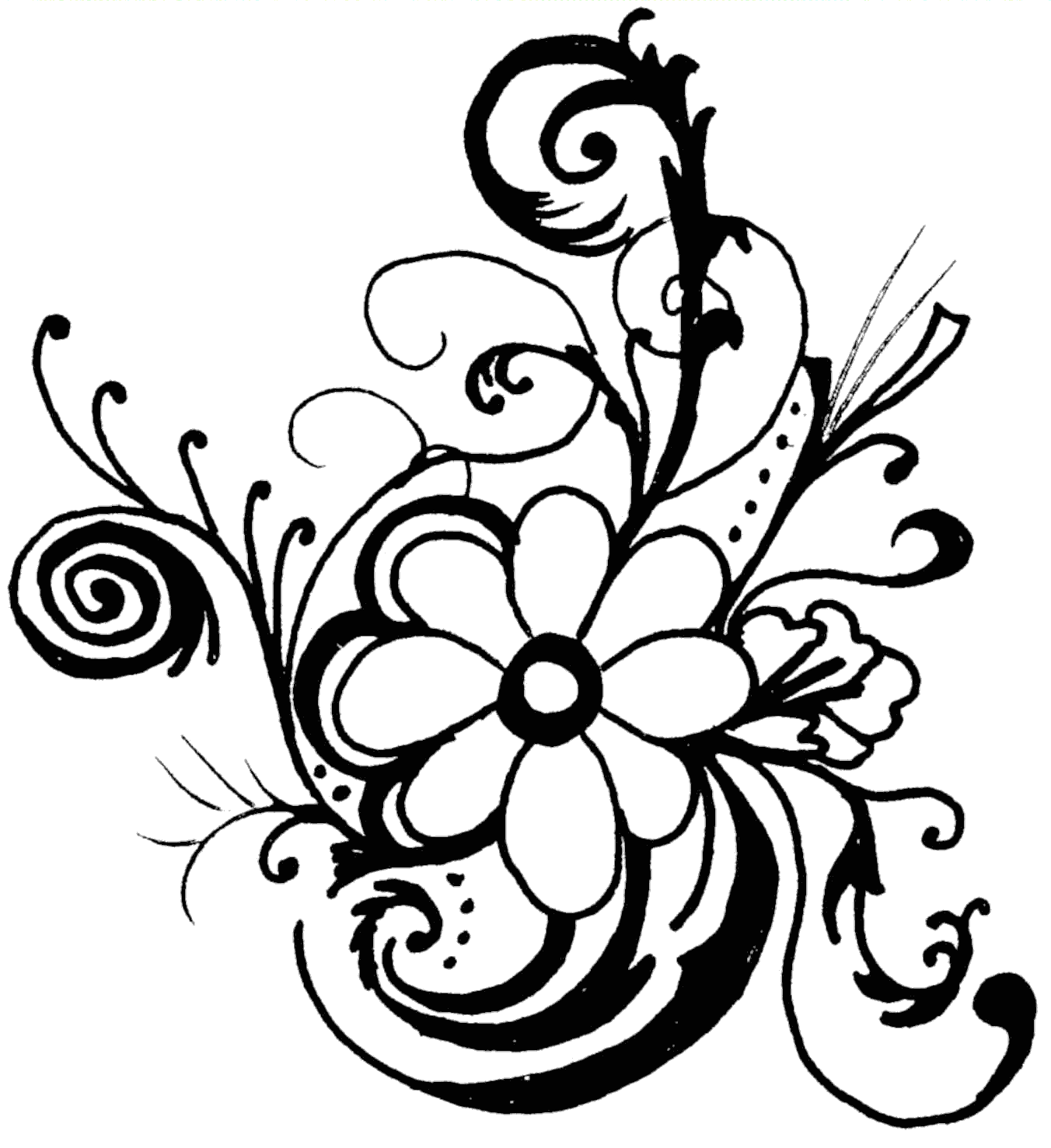 Black And White Flower Border Clipart   Clipart library - Free